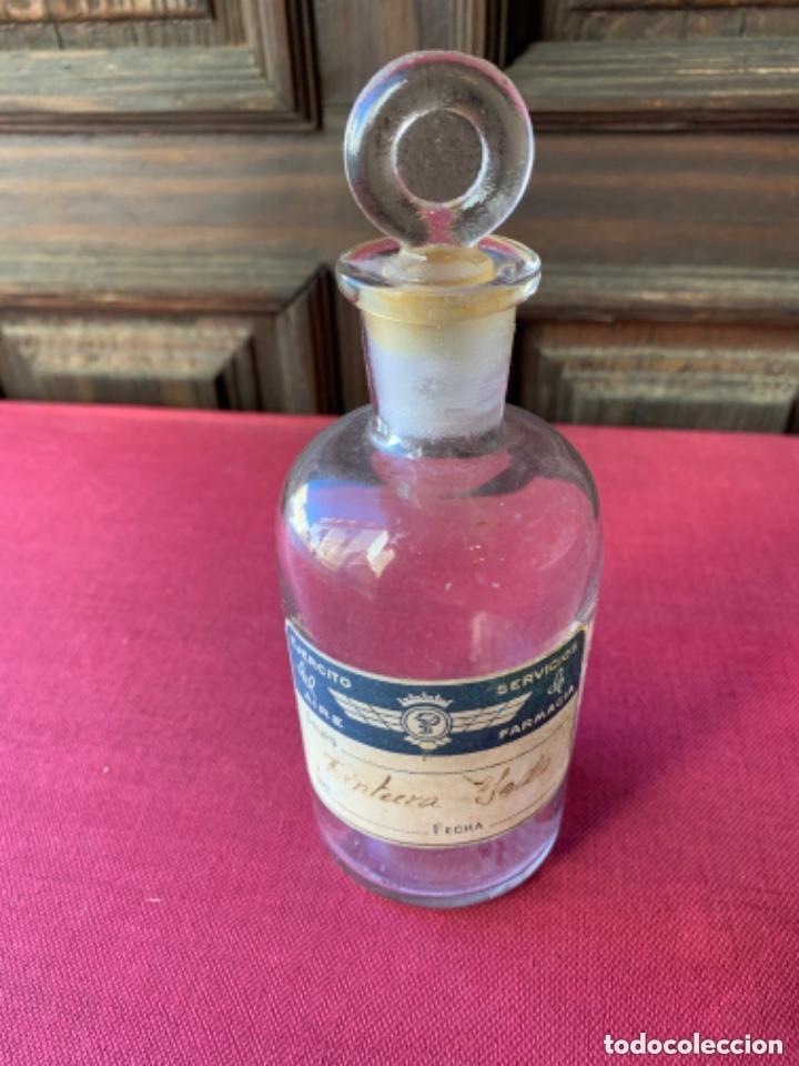 TARRO DE CRISTAL DE FARMACIA ANTIGUO (Antigüedades - Cristal y Vidrio - Farmacia )