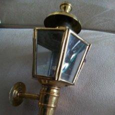 Antigüedades: ** FAROLILLO DE LATON .26 CM. (RF:GG. /E). Lote 218277663
