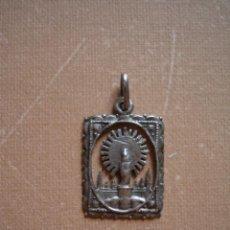 Antigüedades: ANTIGUA MEDALLA DE NUESTRA SEÑORA DEL PILAR DE ZARAGOZA.VIRGEN DEL PILAR.. Lote 218280292