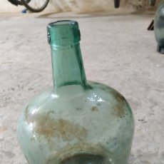 Antigüedades: GARRAFA DE CRISTAL SOPLADO AZULADO VIRESA 5 LITROS. Lote 283656328