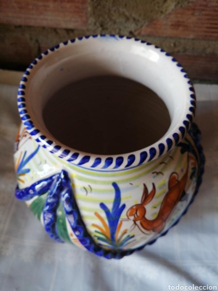 Antigüedades: Jarrón grande de ceramica Talavera - Foto 7 - 218288598
