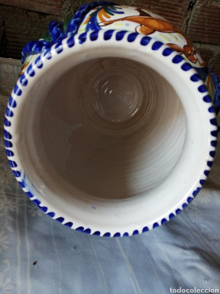 Antigüedades: Jarrón grande de ceramica Talavera - Foto 8 - 218288598
