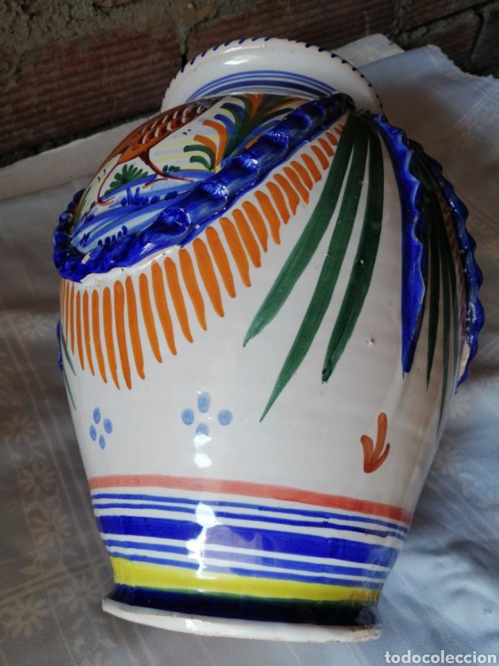 Antigüedades: Jarrón grande de ceramica Talavera - Foto 9 - 218288598