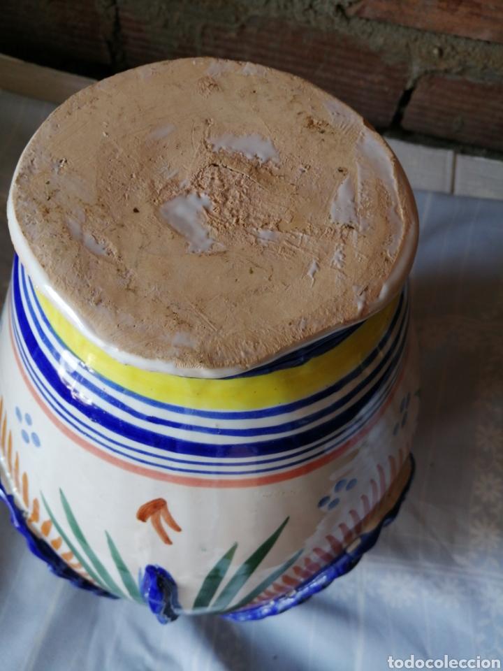 Antigüedades: Jarrón grande de ceramica Talavera - Foto 11 - 218288598