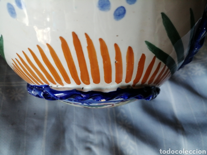 Antigüedades: Jarrón grande de ceramica Talavera - Foto 12 - 218288598