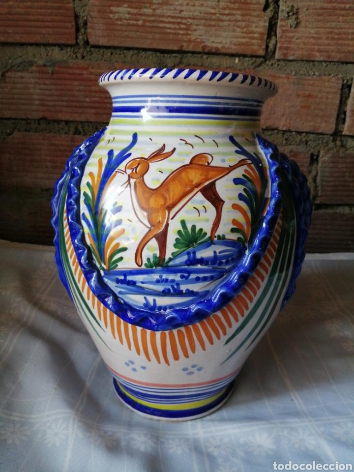 JARRÓN GRANDE DE CERAMICA TALAVERA (Antigüedades - Porcelanas y Cerámicas - Talavera)