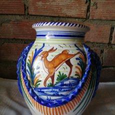 Antiquités: JARRÓN GRANDE DE CERAMICA TALAVERA. Lote 218288598