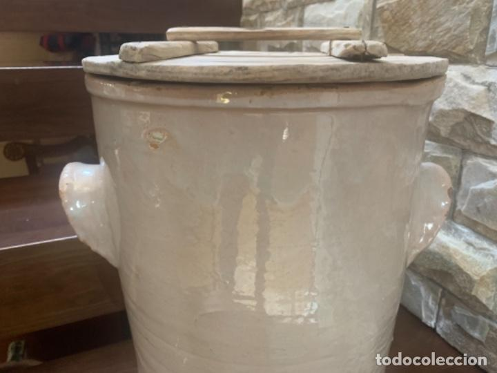 DE COLECCIÓN ANTIGUA QUESERA EN CERÁMICA DE FAJALAUZA (Antigüedades - Porcelanas y Cerámicas - Fajalauza)