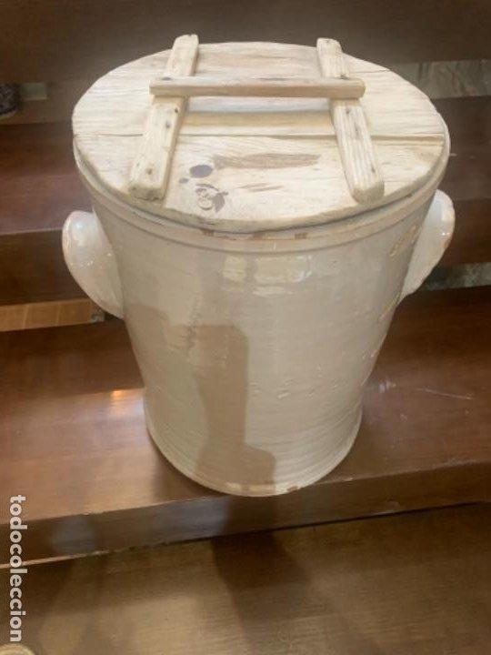 Antigüedades: DE COLECCIÓN ANTIGUA QUESERA EN CERÁMICA DE FAJALAUZA - Foto 7 - 218295478