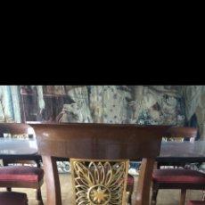 Antigüedades: 14 SILLAS VIAJERAS PAN DE ORO. Lote 218297631