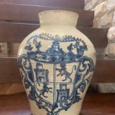 Antigüedades: IMPRESIONANTE BOTE TARRO TINAJA EN CERÁMICA DE TRIANA (SEVILLA). Lote 218298170