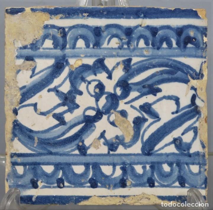 AZULEJO DE TALAVERA. SIGLO XVI (Antigüedades - Porcelanas y Cerámicas - Talavera)