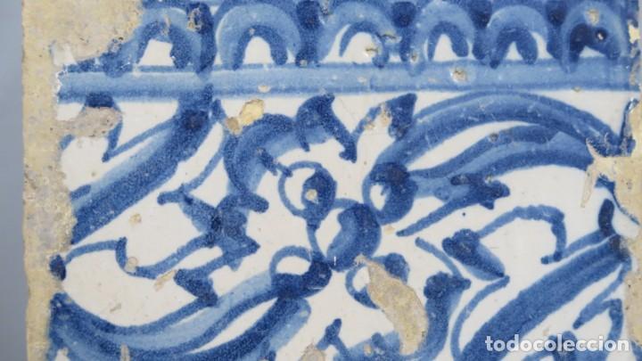 Antigüedades: AZULEJO DE TALAVERA. SIGLO XVI - Foto 2 - 218320978