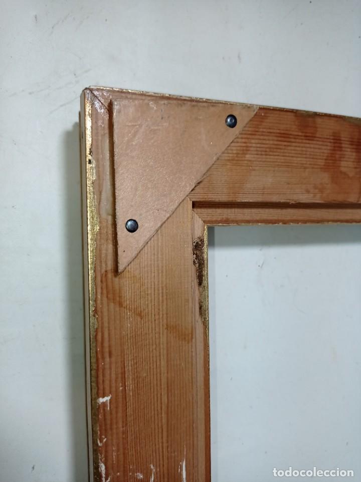 Antigüedades: Antiguo marco realizado en madera medidas interiores y exteriores fotografiadas - Foto 2 - 218322913