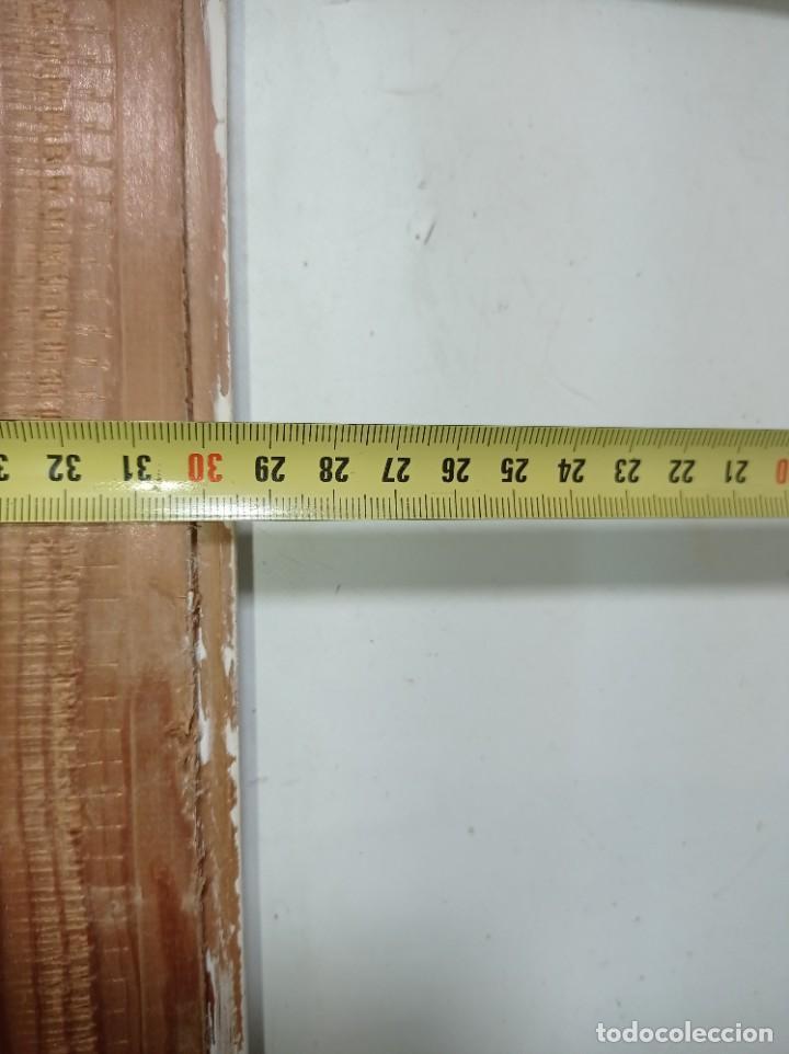 Antigüedades: Antiguo marco realizado en madera medidas interiores y exteriores fotografiadas - Foto 9 - 218322913