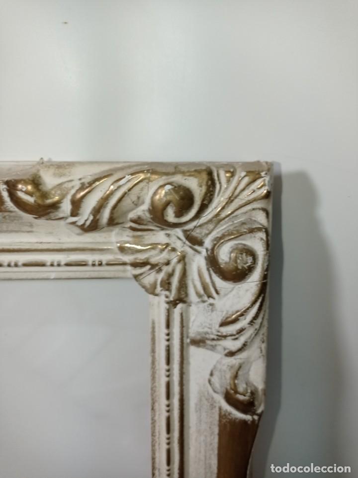 Antigüedades: Antiguo marco realizado en madera medidas interiores y exteriores fotografiadas - Foto 2 - 218329650
