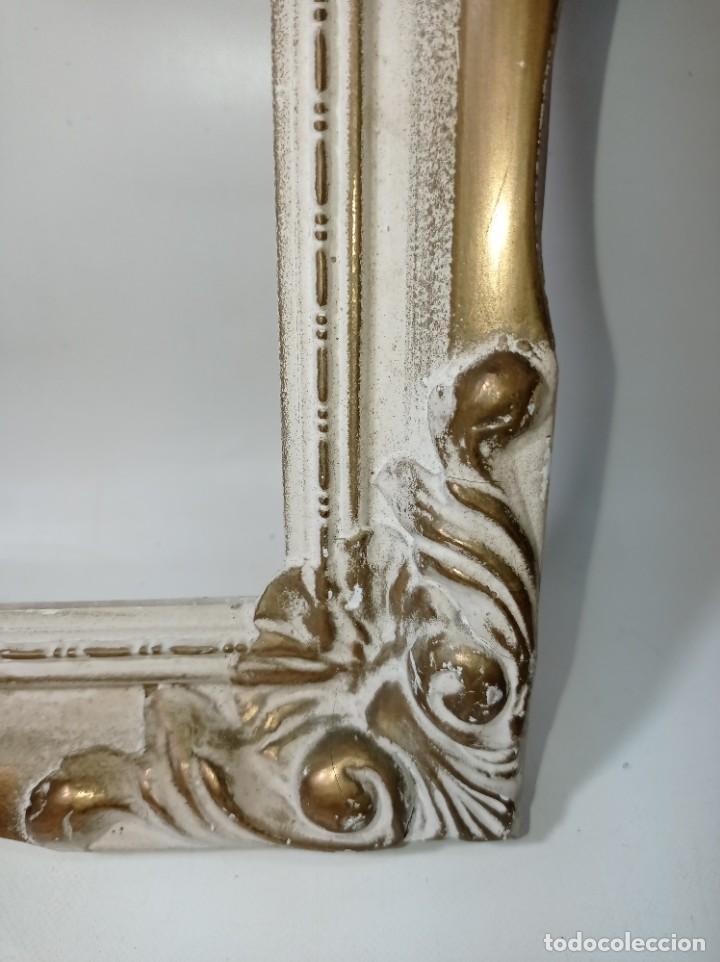 Antigüedades: Antiguo marco realizado en madera medidas interiores y exteriores fotografiadas - Foto 3 - 218329650