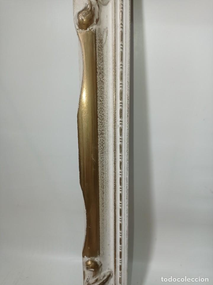 Antigüedades: Antiguo marco realizado en madera medidas interiores y exteriores fotografiadas - Foto 4 - 218329650