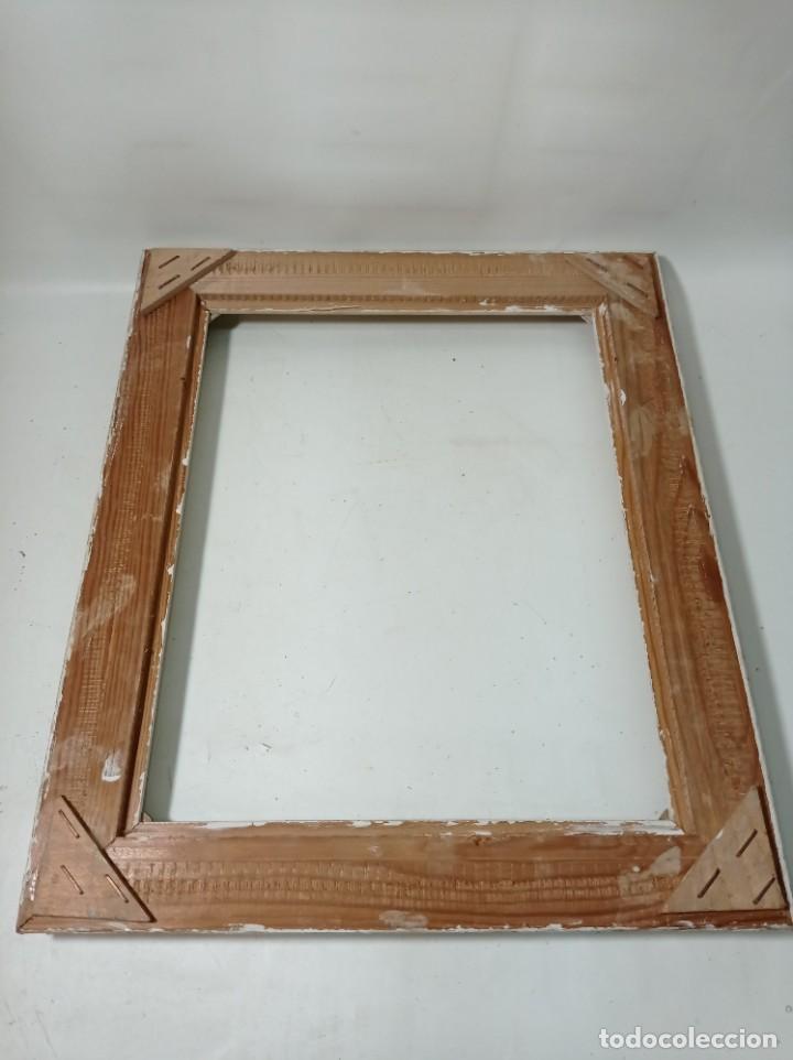 Antigüedades: Antiguo marco realizado en madera medidas interiores y exteriores fotografiadas - Foto 5 - 218329650