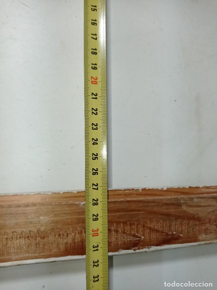 Antigüedades: Antiguo marco realizado en madera medidas interiores y exteriores fotografiadas - Foto 9 - 218329650