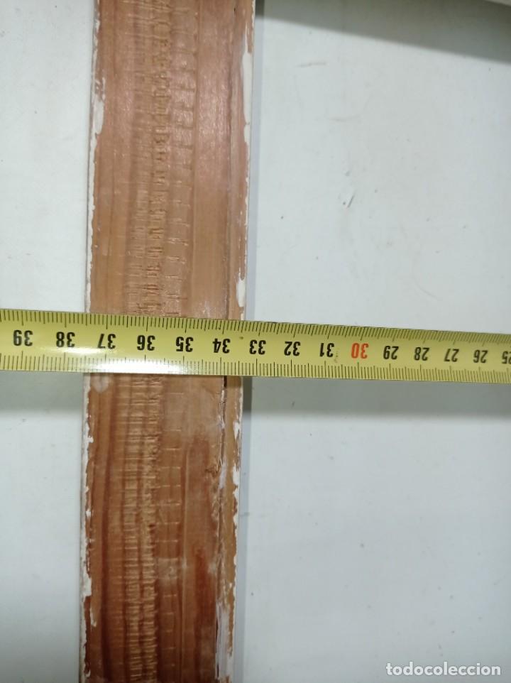 Antigüedades: Antiguo marco realizado en madera medidas interiores y exteriores fotografiadas - Foto 10 - 218329650