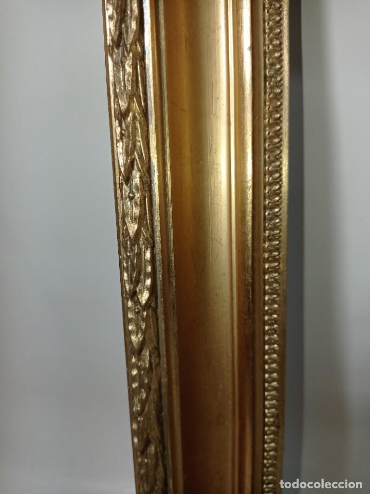 Antigüedades: Antiguo marco realizado en madera y pan de oro medidas interiores y exteriores fotografiadas - Foto 4 - 218329891