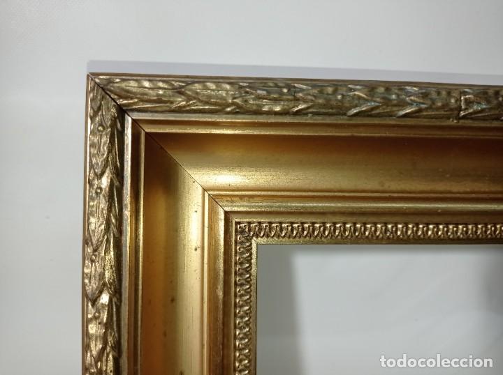 Antigüedades: Antiguo marco realizado en madera y pan de oro medidas interiores y exteriores fotografiadas - Foto 2 - 218329951