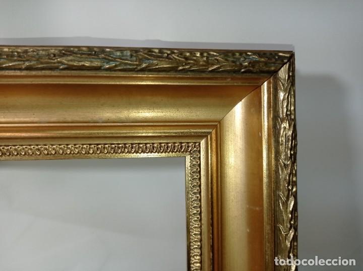 Antigüedades: Antiguo marco realizado en madera y pan de oro medidas interiores y exteriores fotografiadas - Foto 3 - 218329951