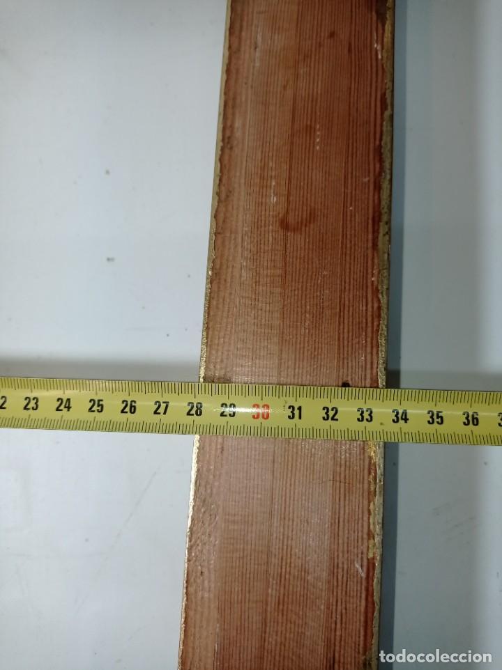 Antigüedades: Antiguo marco realizado en madera y pan de oro medidas interiores y exteriores fotografiadas - Foto 9 - 218329951