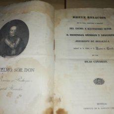 Antigüedades: ESCRITO RELIGIOSO DE CANARIA.. DEL 1839..NO ES UN LIBRO.. VEAN IMÁGENES. Lote 218333356