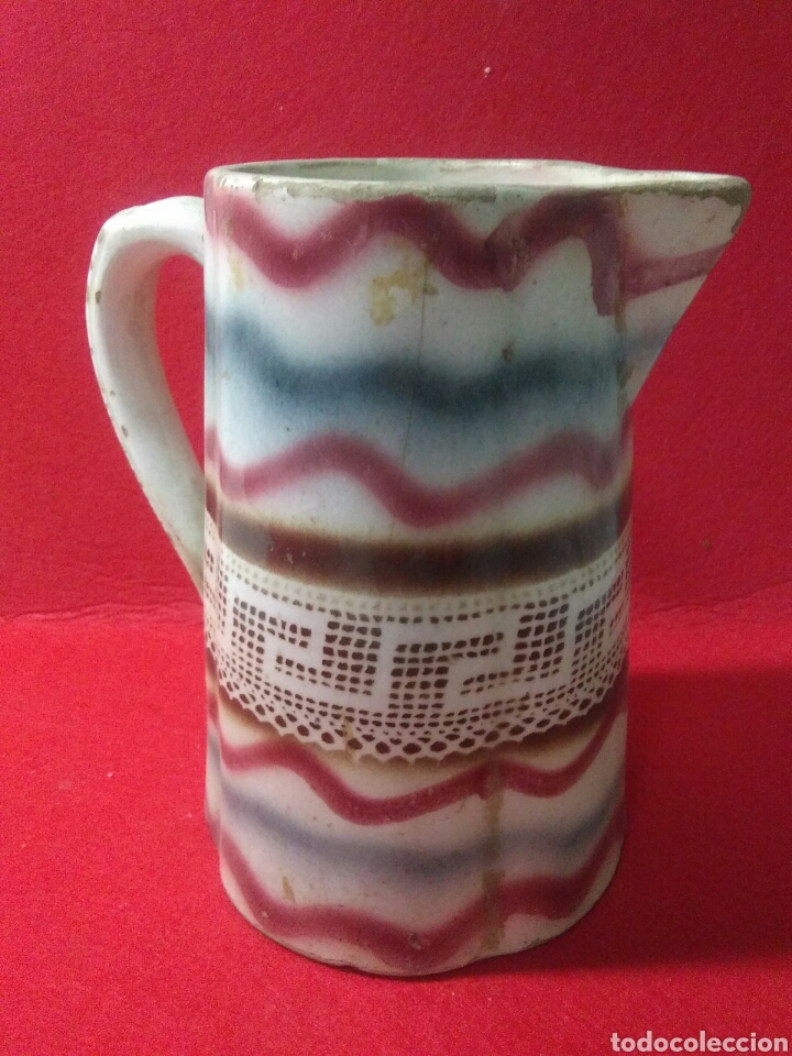Antigüedades: Antigua jarra de ceramica siglo XIX - Foto 9 - 218342515