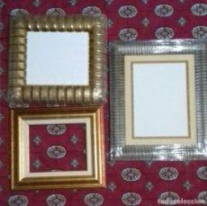 Antigüedades: LOTE DE 3 MARCOS NUEVOS. INCLUYEN 2 TABLAS ENTELADAS. DISTINTAS MEDIDAS. VER FOTOS.. Lote 218346805