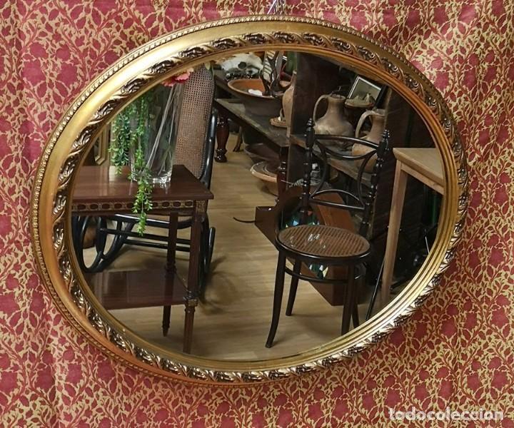 ESPEJO OVAL (Antigüedades - Muebles Antiguos - Espejos Antiguos)