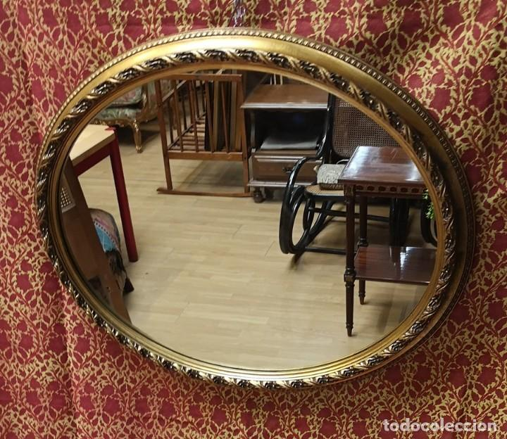 Antigüedades: Espejo Oval - Foto 3 - 218351525