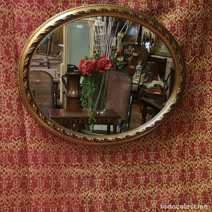 Antigüedades: Espejo Oval - Foto 5 - 218351525