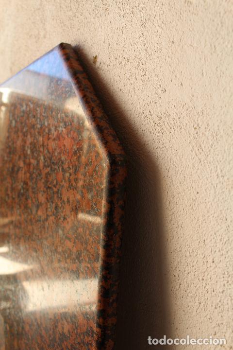 Antigüedades: encimera y tablero para mesa de cocina de granito rojo - Foto 2 - 218352705