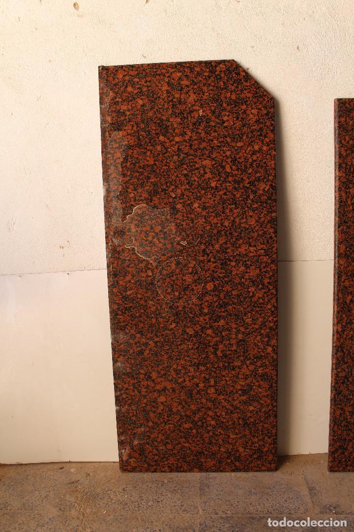 Antigüedades: encimera y tablero para mesa de cocina de granito rojo - Foto 4 - 218352705