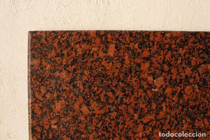 Antigüedades: encimera y tablero para mesa de cocina de granito rojo - Foto 5 - 218352705
