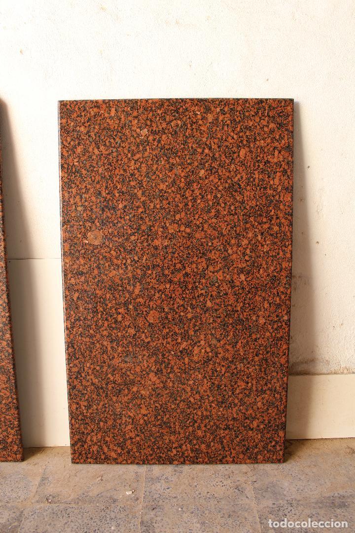 Antigüedades: encimera y tablero para mesa de cocina de granito rojo - Foto 6 - 218352705