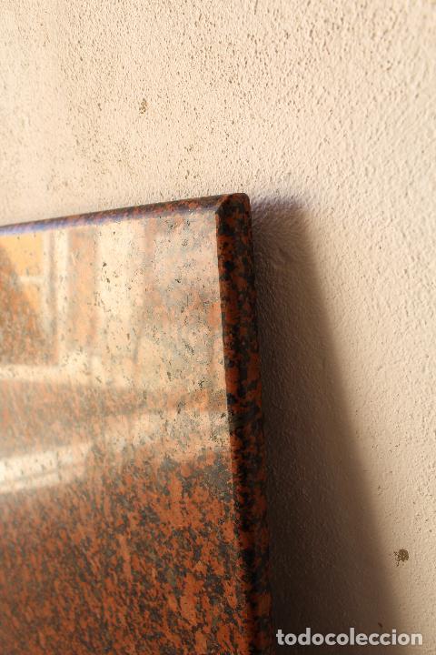Antigüedades: encimera y tablero para mesa de cocina de granito rojo - Foto 7 - 218352705