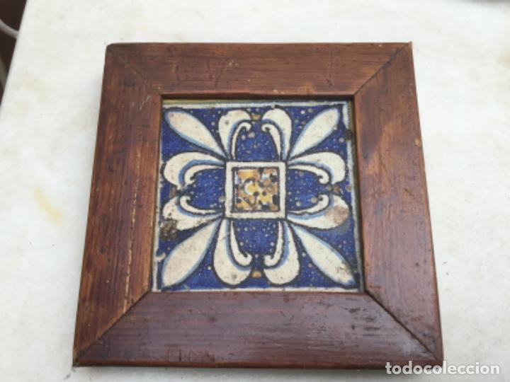ANTIGUO AZULEJO DEL XVL (Antigüedades - Porcelanas y Cerámicas - Algora)