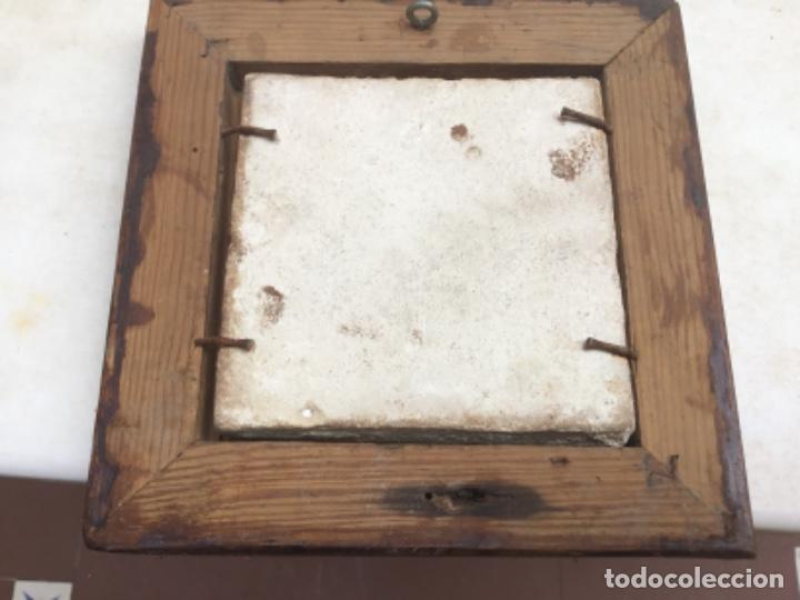 Antigüedades: Antiguo azulejo del xvl - Foto 2 - 218380877