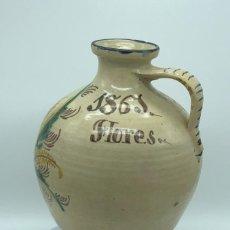 Antiguidades: CÁNTARO DE PUENTE DEL ARZOBISPO SIGLO XIX (1861) 40 CM ALTO Y 24 DE DIÁMETRO. Lote 218425441