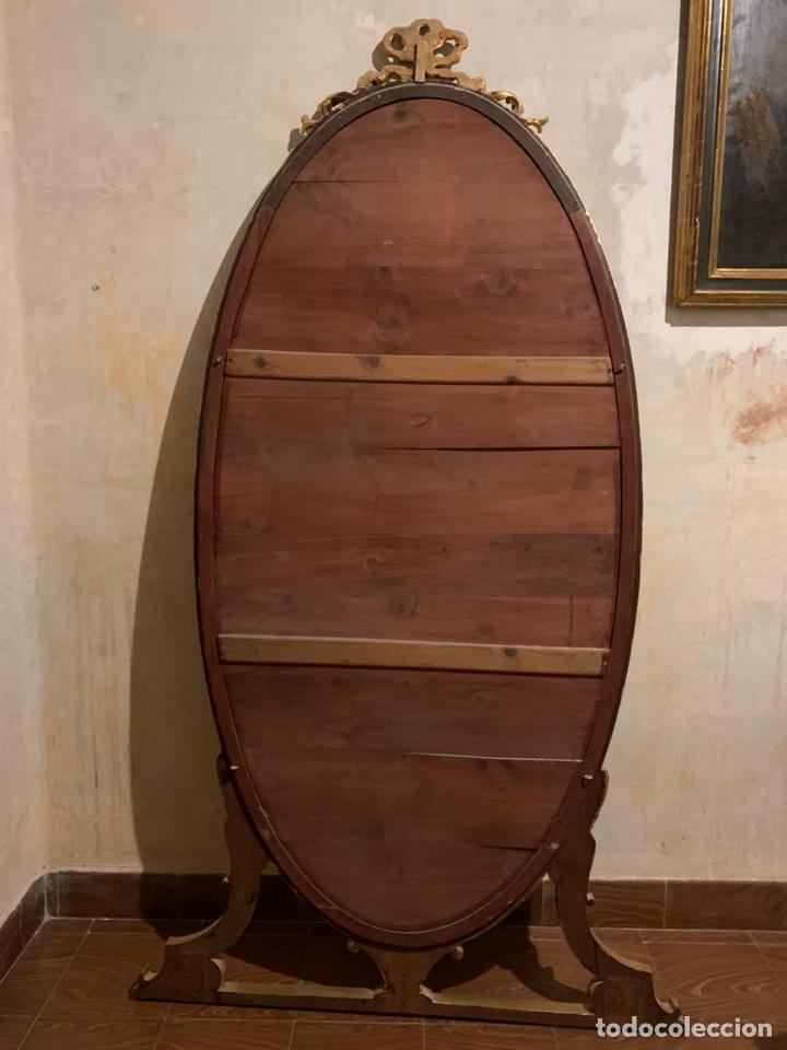 Antigüedades: Enorme espejo de madera y oro - Foto 8 - 145281066