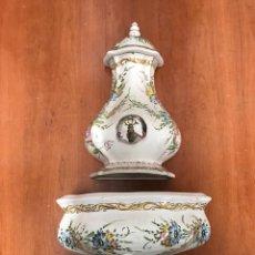 Antigüedades: AGUAMANIL O FUENTE DE CERAMICA. PORTUGAL. SIGUIENDO MODELOS SIGLO XVIII. Lote 218426643
