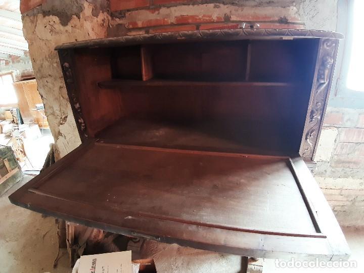 Antigüedades: Espectacular escritorio de madera - Foto 3 - 215043450