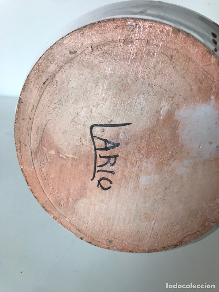 Antigüedades: JARRÓN DE PORCELANA ANTIGUA LARIO - Foto 2 - 218459461