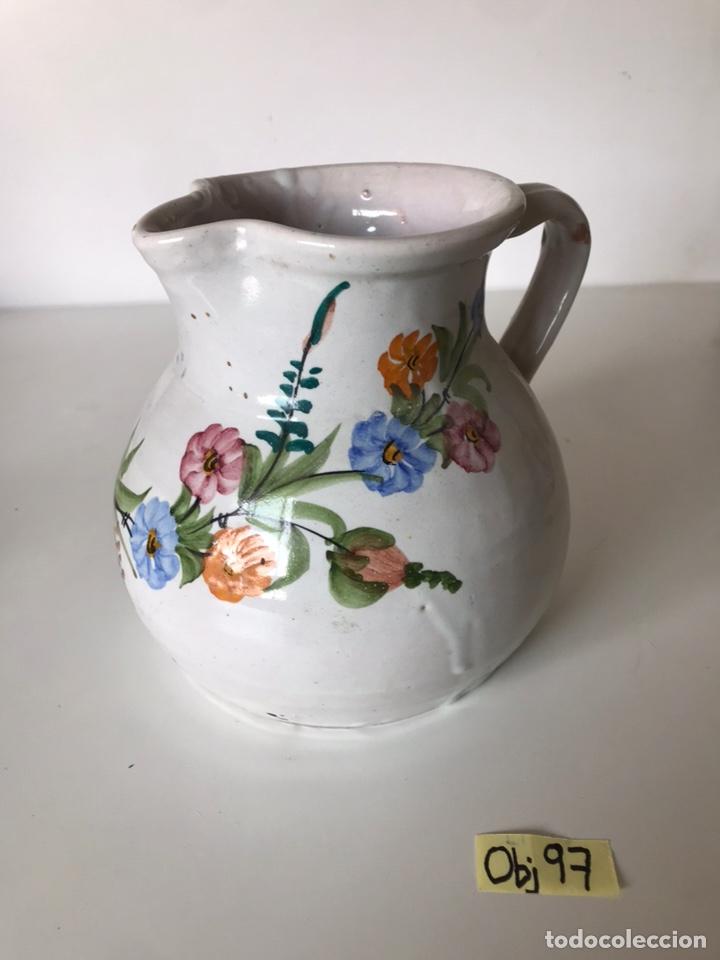 JARRÓN DE PORCELANA ANTIGUA LARIO (Antigüedades - Porcelanas y Cerámicas - Lario)