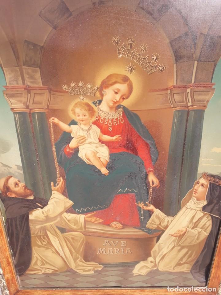 Antigüedades: Virgen del Rosario - Foto 2 - 218465138