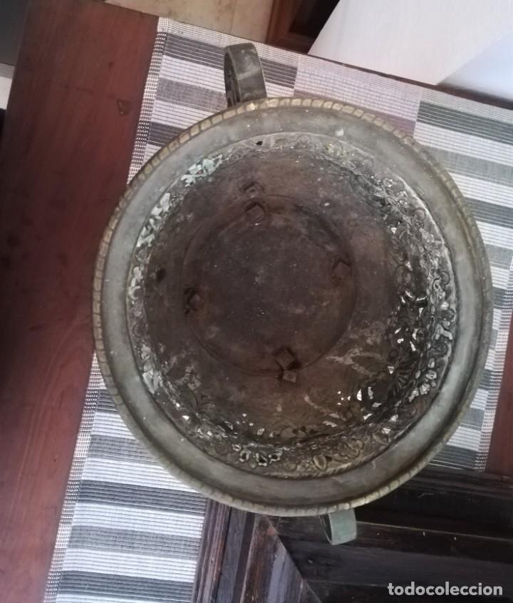 Antigüedades: Macetero bronce y latón - Foto 4 - 218475617